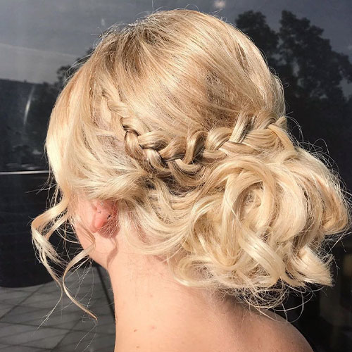 Event Hair Style - Blonde Upstyle