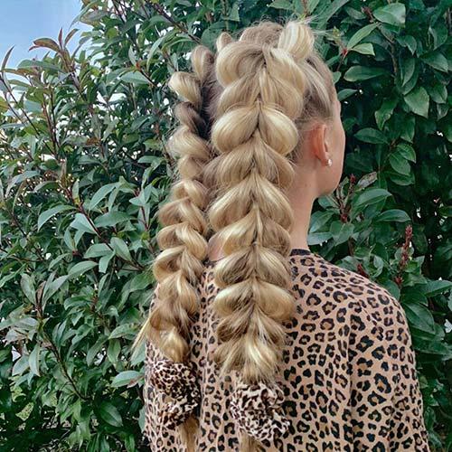Events Hair Style - Blonde Braids