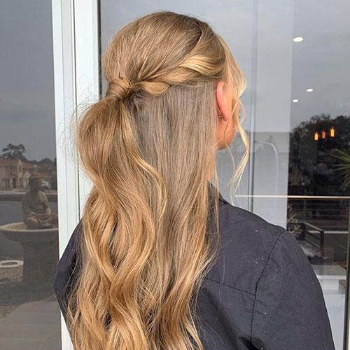 Event Hair Style - Half Half